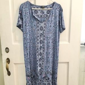 WOMEN'S Lucky Brand Periwinkle Dress SIZE XL
